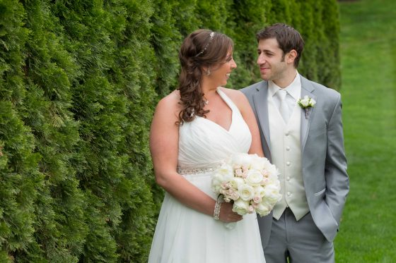Bride and Groom at The Waterview Monroe CT - Wedding Photography by CT Photo Group