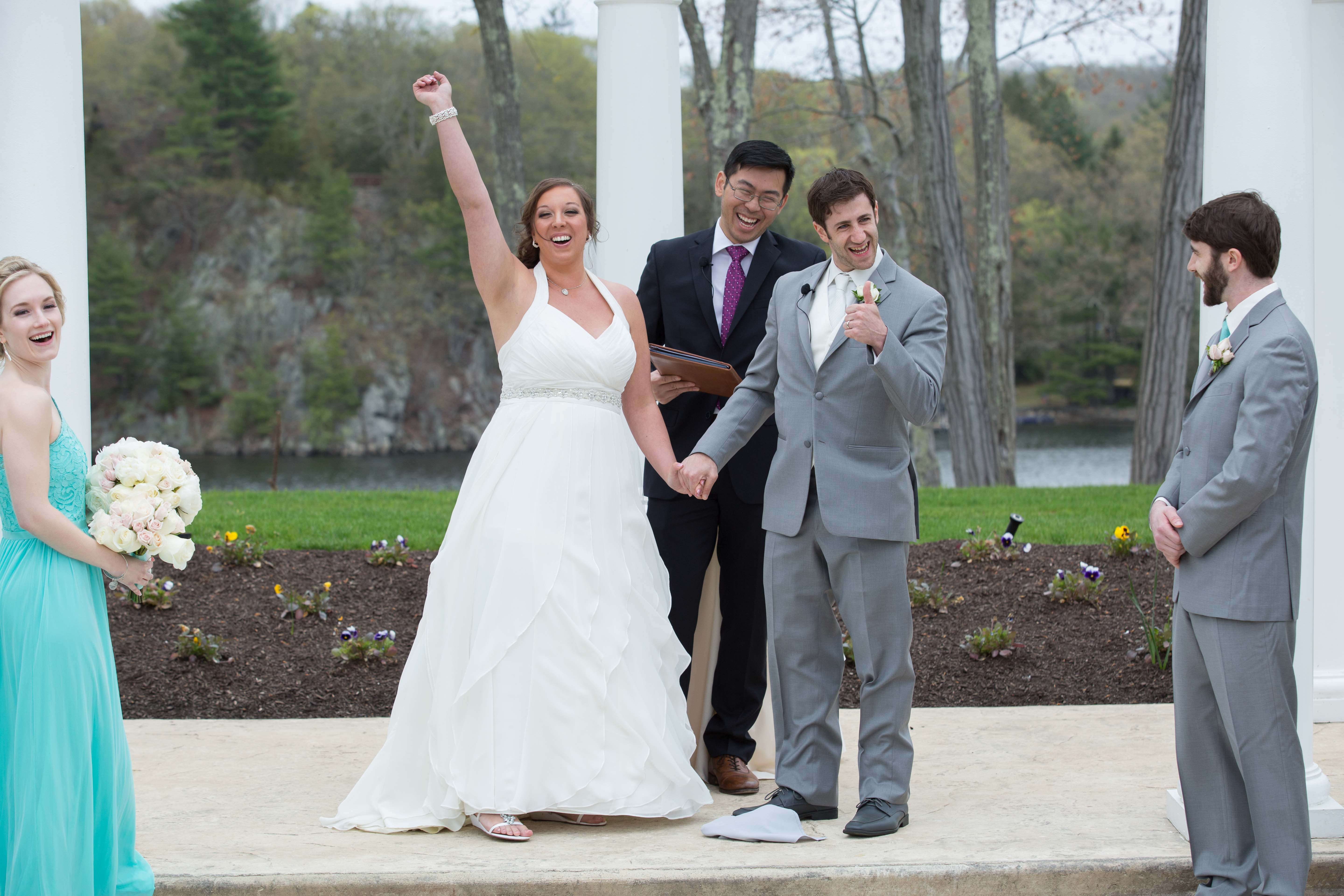 Wedding Ceremony at The Waterview Monroe CT - Wedding Photography by CT Photo Group