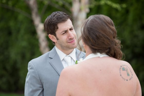 First Look at The Waterview Monroe CT - Wedding Photography by CT Photo Group