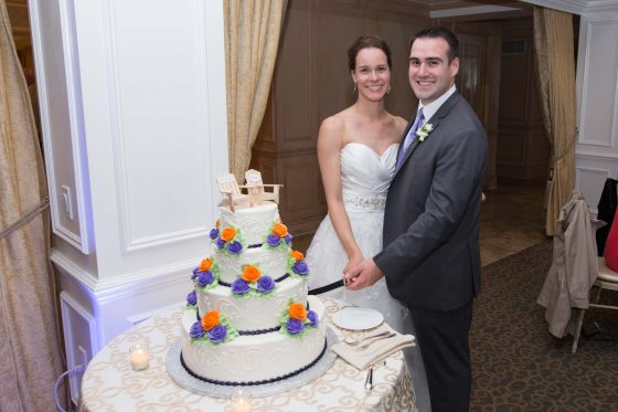 Cake Cutting - Willowbend Country Club Wedding Photos - CT Photo Group