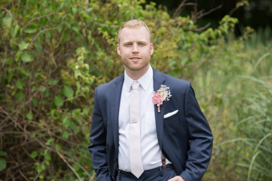 Groom Alone - Michael's at the Grove Wedding Photography by CT Photo Group