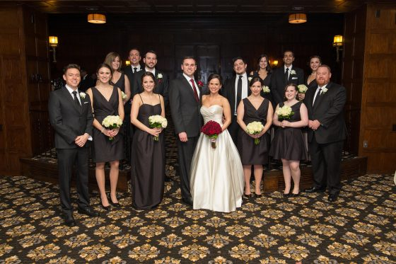 Bridal Party Le Chateau Wedding Photography by CT Photo Group