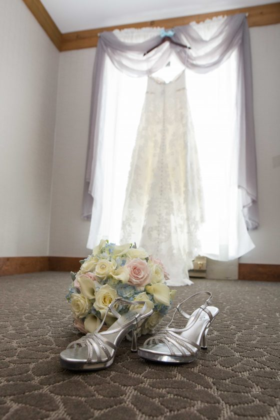 Wedding Gown Hanging - CT Wedding Photography - CT Photo Group