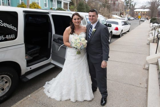 Bride and Dad near Limo - CT Wedding Photography - CT Photo Group