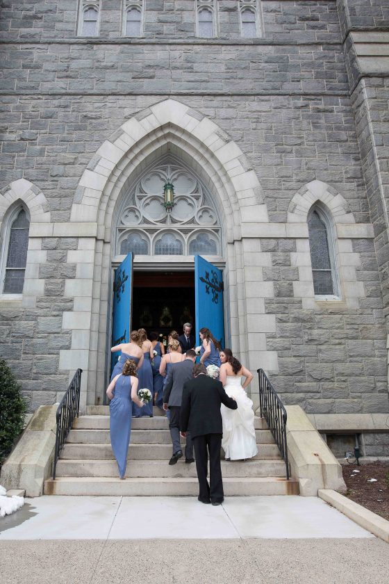 Bride going into Chruch - CT Wedding Photography - CT Photo Group