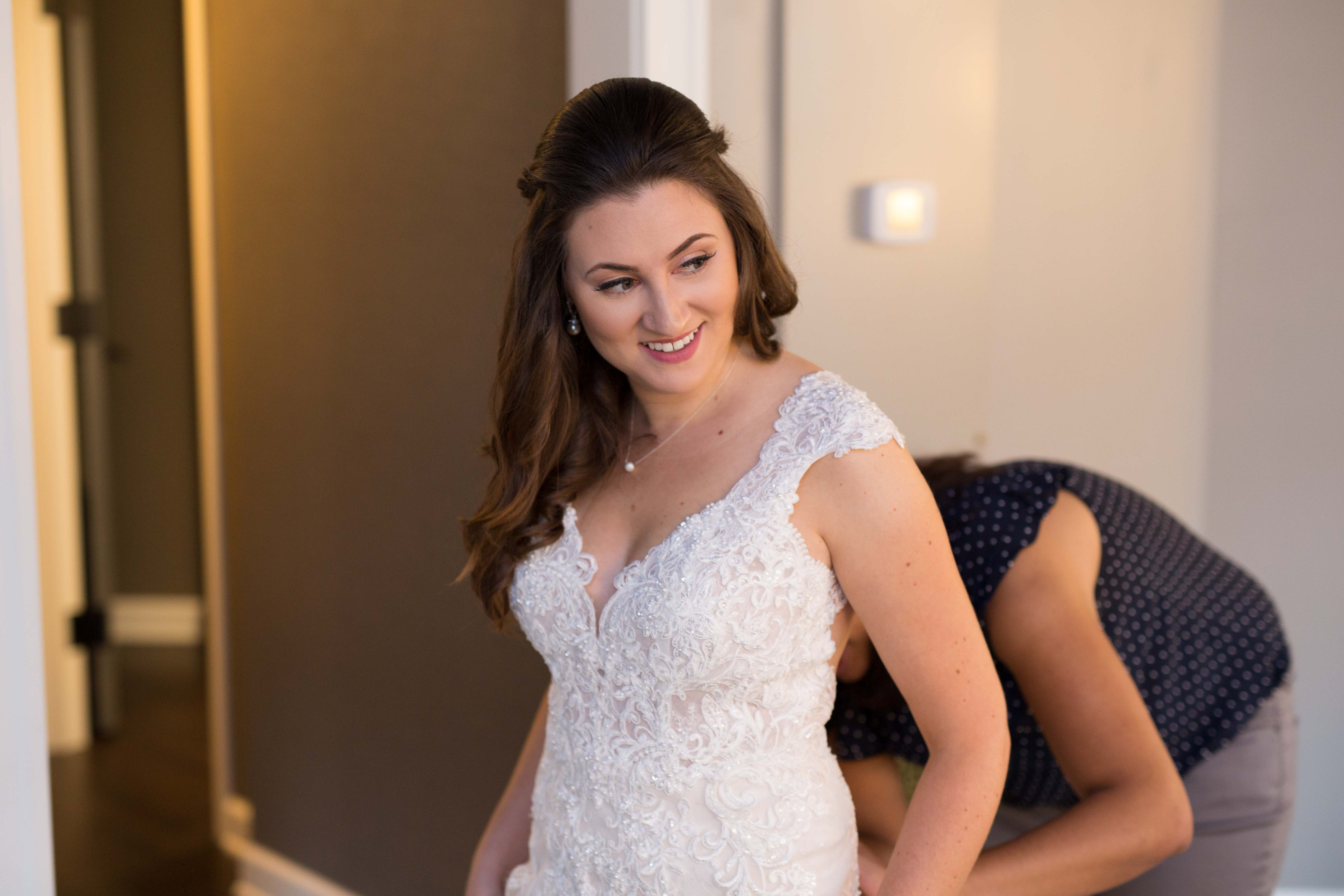 Bride Getting Ready Wedding Photography at The Goodwin Hotel Hartford CT