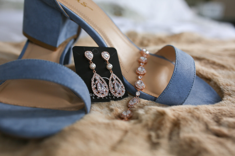 Bride Details - Shoes & Ear Rings - CT Photo Group