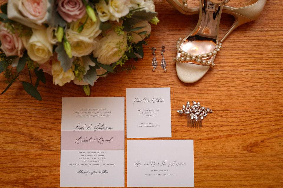 Bride Details - Shoes, Ear Rings & Invitation - CT Photo Group