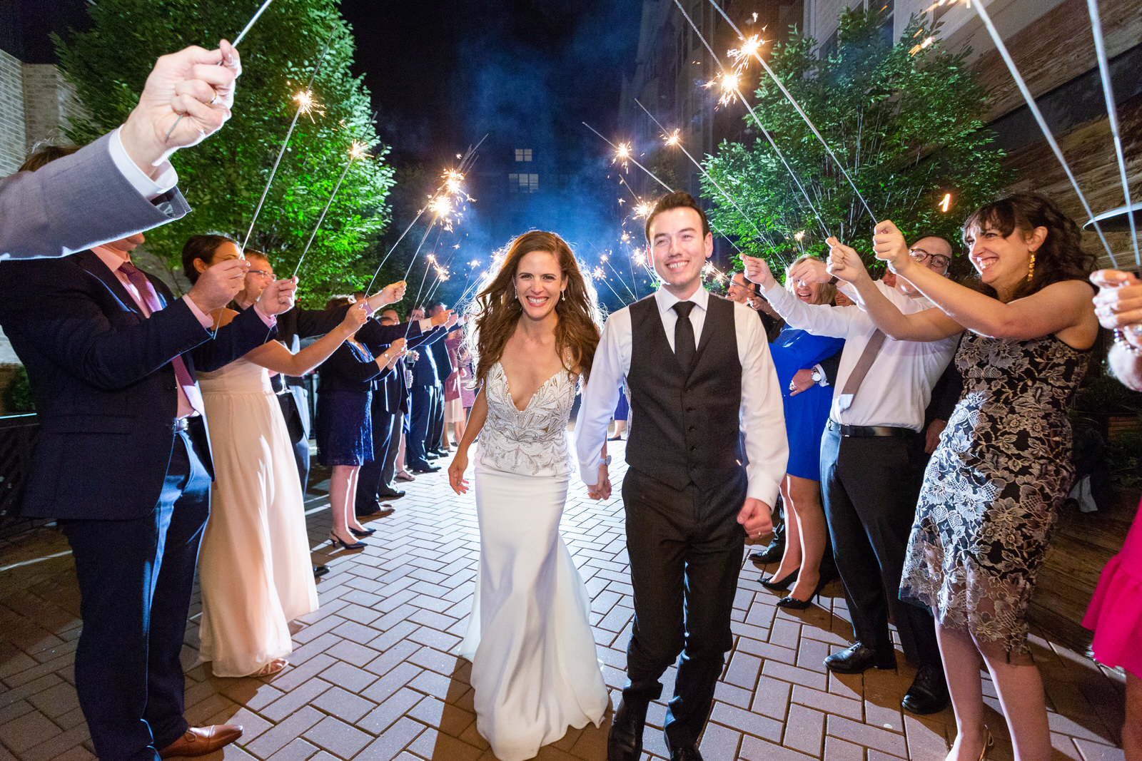 Wedding Sparklers - CT Photo Group